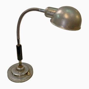 Industrial Italian Chrome Plated Table Lamp, 1940s