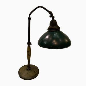 Industrial Italian Bakelite and Brass Table Lamp, 1930s