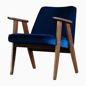 Model 366 Polish Rosewood Armchair by Józef Chierowski, 1960s