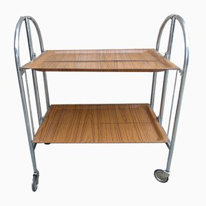 Vintage Industrial Danish Serving Cart on Casters, 1970s