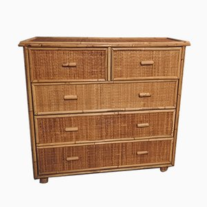 Mid-Century Bamboo and Fir Dresser, 1960s