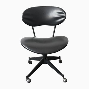 Mid-Century Italian Steel and Vinyl Desk Chair, 1960s