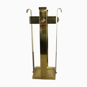 Hollywood Regency Style Italian Brass Umbrella Stand, 1970s