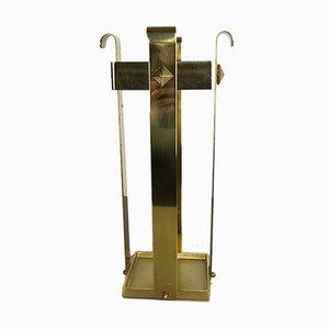 Hollywood Regency Style Italian Brass Umbrella Stand, 1970s