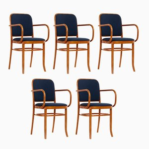 Art Nouveau Beech Dining Chairs by Josef Hoffmann, 1970s, Set of 5