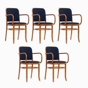 Chaises de Salle à Manger Art Nouveau en Hêtre par Josef Hoffmann, 1970s, Set de 5