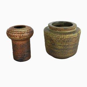 Vasi in ceramica e terracotta di Piet Knepper per Mobach, anni '60, set di 2