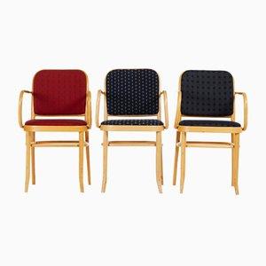 Esszimmerstühle aus Buche im Jugendstil von Josef Hoffmann, 1970er, 3er Set