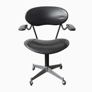 Chaise de Bureau Mid-Century en Acier et Vinyle, Italie, 1960s