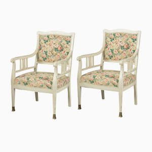 Art Nouveau German Beech Armchairs, Set of 2
