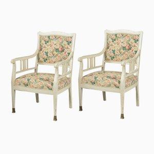 Art Nouveau German Beech Armchairs, Set of 2