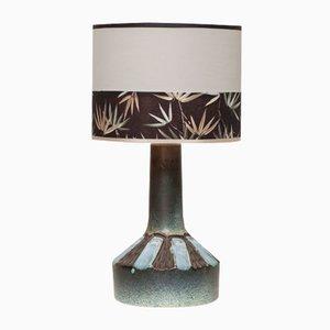 Lámpara de mesa danesa Mid-Century de cerámica hecha a mano, años 60