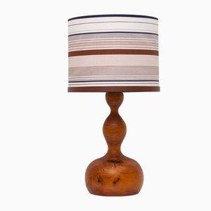 Lámpara de mesa danesa Mid-Century de madera, años 60