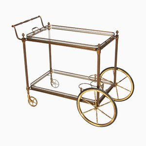 French Brass Bar Cart, 1960s