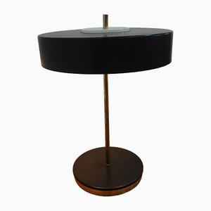 Black Aluminum and Iron Table Lamp from Kamenický Šenov, 1960s