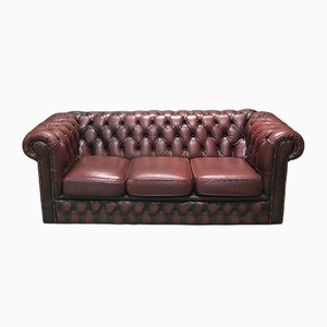 Vintage Chesterfield Leather Sofa, 1970s