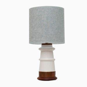 Lámpara de mesa danesa de porcelana, años 60