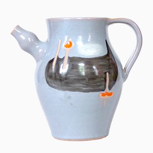 Vintage Ceramic Pitcher from Robert & Gilberte Auguste