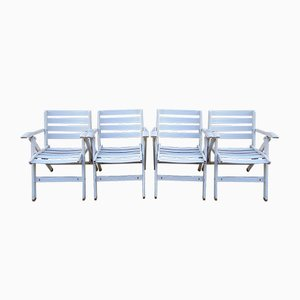 Garden Chairs by Ico Luisa Parisi for Fratelli Reguitti, 1970s, Set of 4