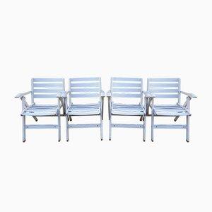 Reguitti Gartenstühle von Ico Luisa Parisi für Fratelli Reguitti, 1970er, 4er Set