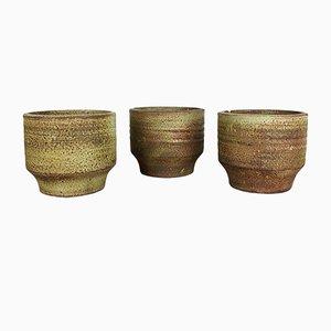Jarrones de cerámica de Piet Knepper para Mobach, años 70. Juego de 3