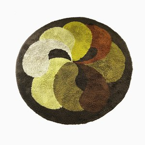 Large Dutch Modernist Multi-Color High Pile Rya Rug from Desso, 1930s