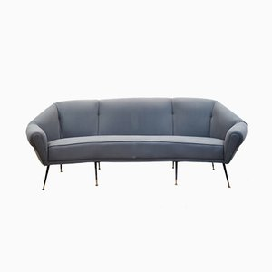 Italian Curved Sofa by Gigi Radice, 1960s