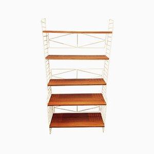 Scandinavian Modern Steel and Teak Shelf, 1950s
