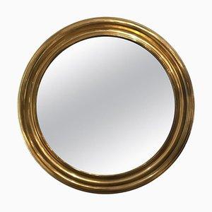 Specchio rotondo in ottone, anni '50