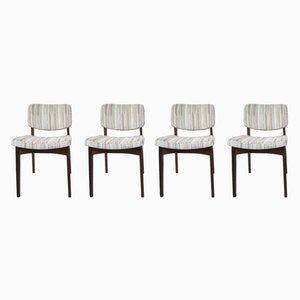 Dänische Mid-Century Esszimmerstühle aus Mahagoni, 1960er, 4er Set
