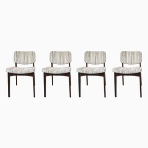 Mid-Century Danish Mahogany Dining Chairs, 1960s, Set of 4