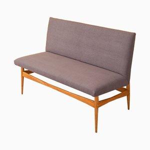 Deutsches Mid-Century Sofa mit Gestell aus Nussholz, 1960er
