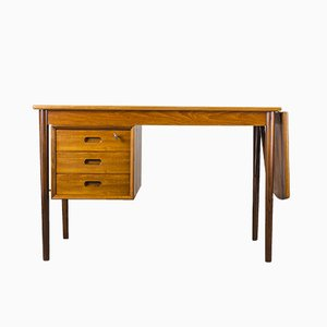 Danish Teak Desk by E. W. Bach for Oddense Maskinsnedkeri / O.D. Møbler, 1950s
