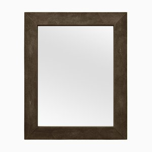 Brown Eco-Galuchat Leather Brigitte Mirror from Cupioli Luxury Living