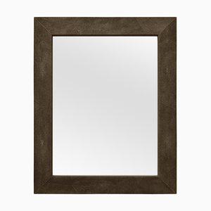 Espejo Brigitte de cuero Eco-Galuchat marrón de Cupioli Luxury Living