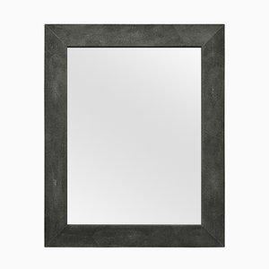 Miroir Brigitte en Cuir de Galuchat Écologique Noir de Cupioli Luxury Living