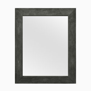 Specchio Brigitte in ecopelle Galuchat nera di Cupioli Luxury Living