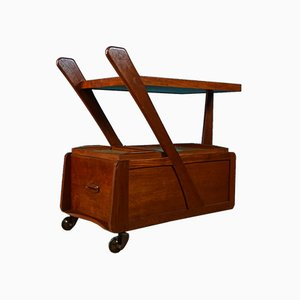 Mid-Century Danish Afromosia Bar Trolley, 1960s