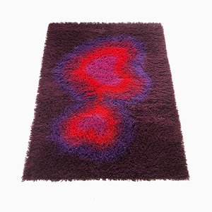 Large Danish High-Pile Rya Rug from Ege Taepper, 1970s