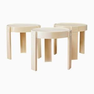 Tables Gigognes Vintage en Plastique de Edizioni Flair, 1970s, Set de 3