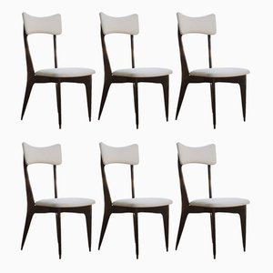 Italian Ebony Dining Chairs by Ico & Luisa Parisi, 1950s, Set of 6