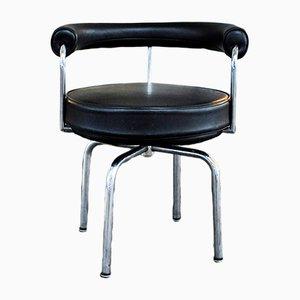 Schwarzer italienischer LC7 Sessel von Charlotte Perriand, 1980er