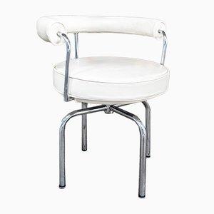 Weißer italienischer LC7 Sessel von Charlotte Perriand, 1980er