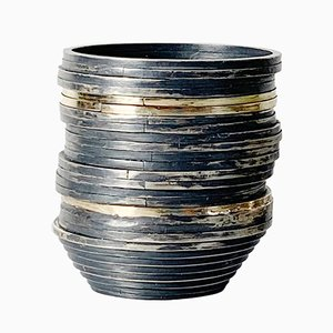 Oxidised Silver and Gold Wire Vessels, 2018, Set of 2