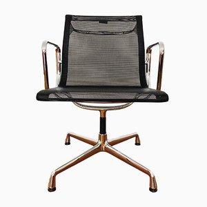 Drehbarer Modell EA 108 Armlehnstuhl aus verchromtem Metall von Charles & Ray Eames für Vitra, 1990er