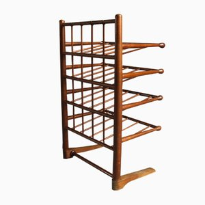 Danish Wooden Magazine or Shoe Rack by Frits Henningsen for Andreas Tuck, 1940s