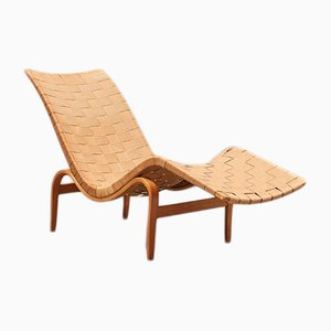 Beech Lounge Chair by Bruno Mathsson for Firma Karl Mathsson, 1940s
