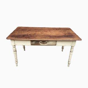 Rustikaler französischer Landhaus-Tisch aus Buche & Tannenholz, 1920er