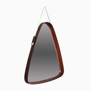 Dreieckiger italienischer Mid-Century Spiegel, 1960er