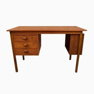 Modern skandinavischer Schreibtisch aus Teakfurnier, 1960er